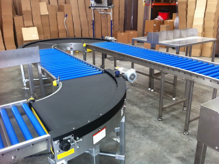 Radius conveyors