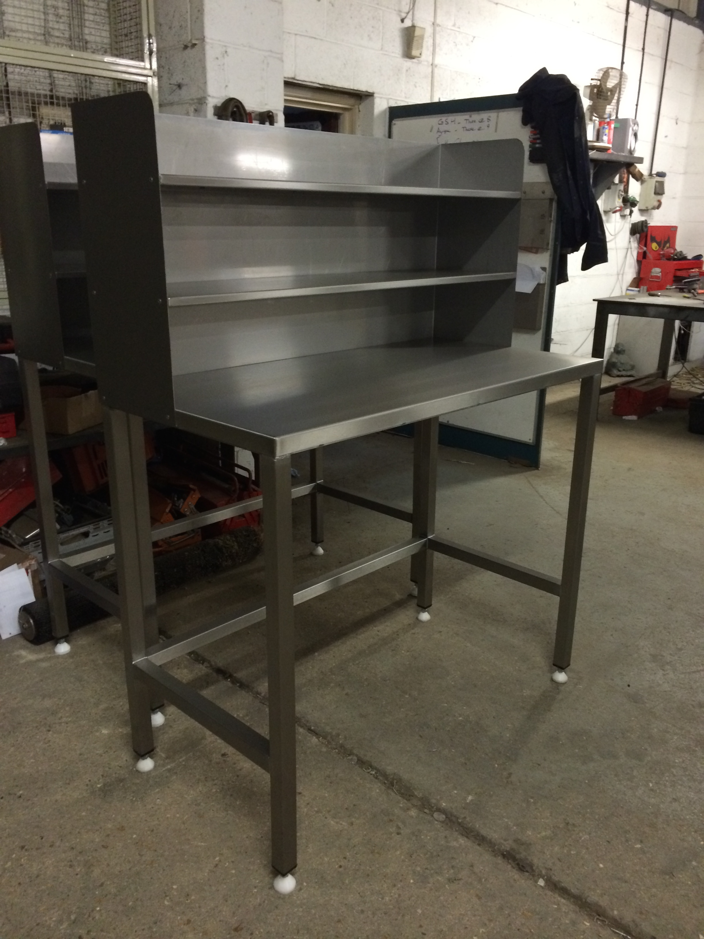 Stainless steel work stations