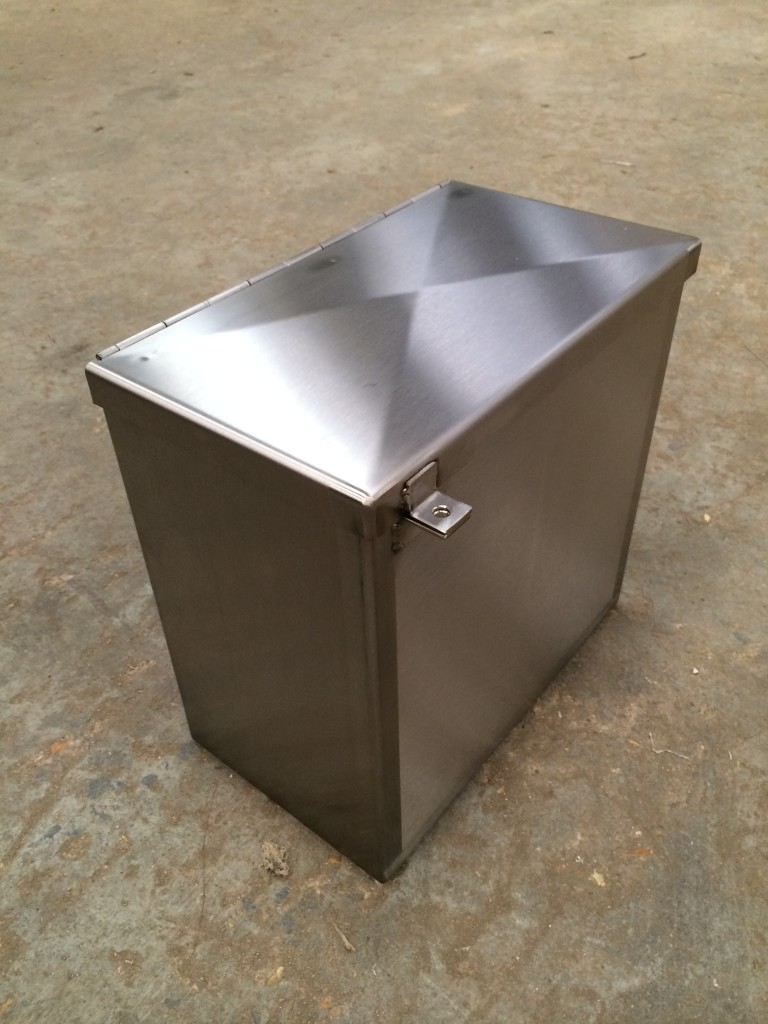 stainless steel knife box